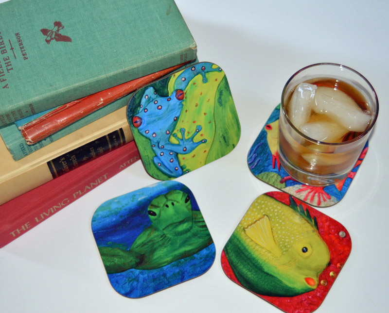 Amphibians and Fish Coasters